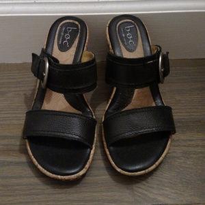 b∙ø∙c Wedge Mule Sandals